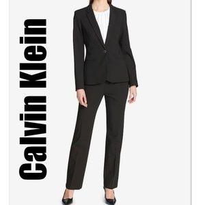 Calvin Klein Women's Fitted Black Pant Suit Sz 10
